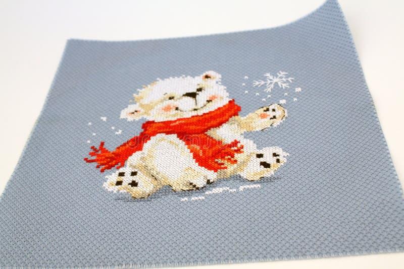 Πολική αρκούδα του νέου έτους στοκ φωτογραφίες με δικαίωμα ελεύθερης χρήσης