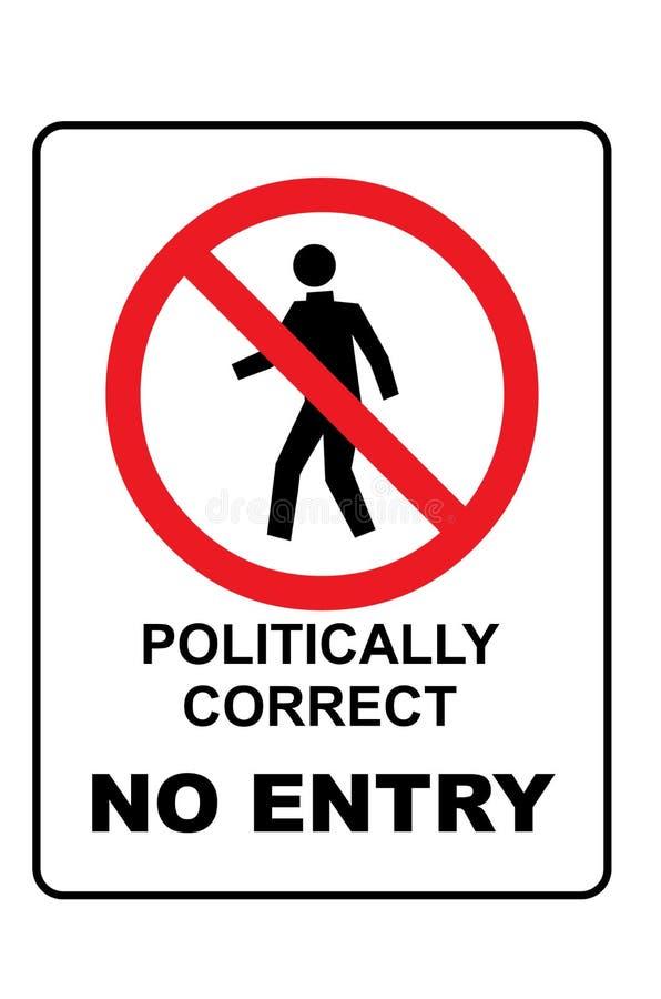Πολιτικά μην διορθώστε κανένα σημάδι εισόδων ελεύθερη απεικόνιση δικαιώματος