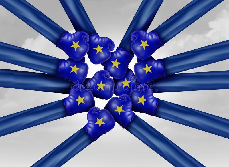 Πολιτική πάλη της Ευρώπης διανυσματική απεικόνιση