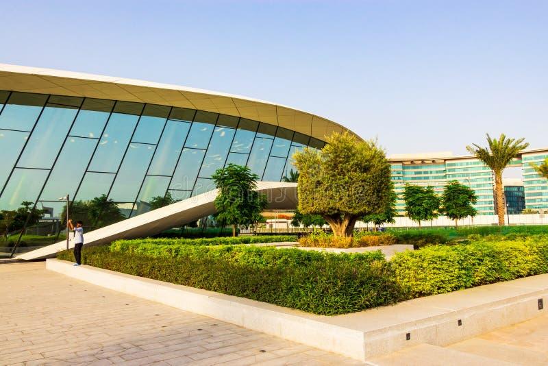 Πολιτιστικό προσφέροντας θαυμάσιο νέο κτήριο μουσείων Etihad που βρίσκεται σε Jumeirah, Ντουμπάι, Ε.Α.Ε. στοκ εικόνα
