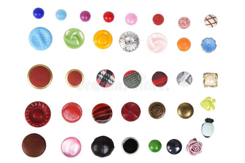Πολλά κουμπιά που απομονώνονται διαφορετικά στοκ φωτογραφία με δικαίωμα ελεύθερης χρήσης