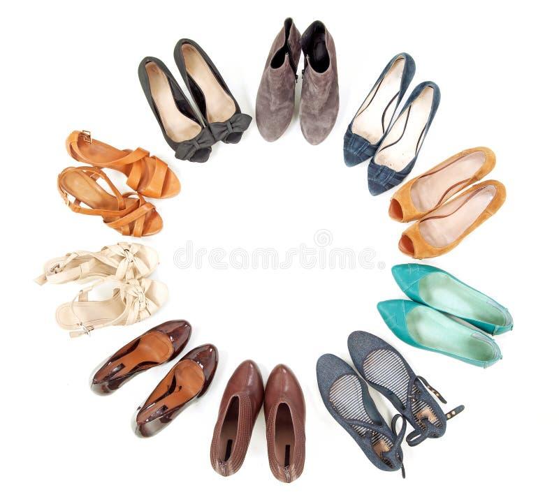 πολλά παπούτσια ζευγαρ&iota στοκ φωτογραφία