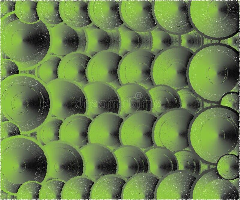 Πολλά σκούρο πράσινο χρώματα καπακιών διανυσματική απεικόνιση