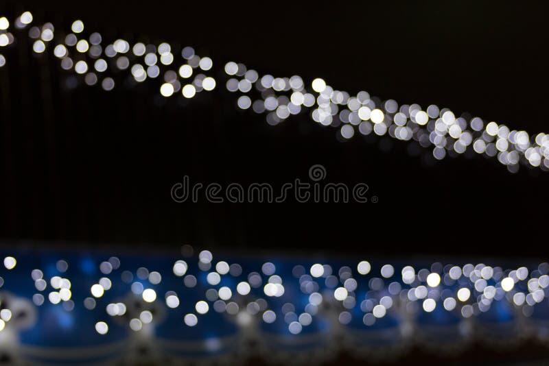 Πολλά φω'τα θόλωσαν bokeh το υπόβαθρο στη νύχτα στοκ φωτογραφία με δικαίωμα ελεύθερης χρήσης
