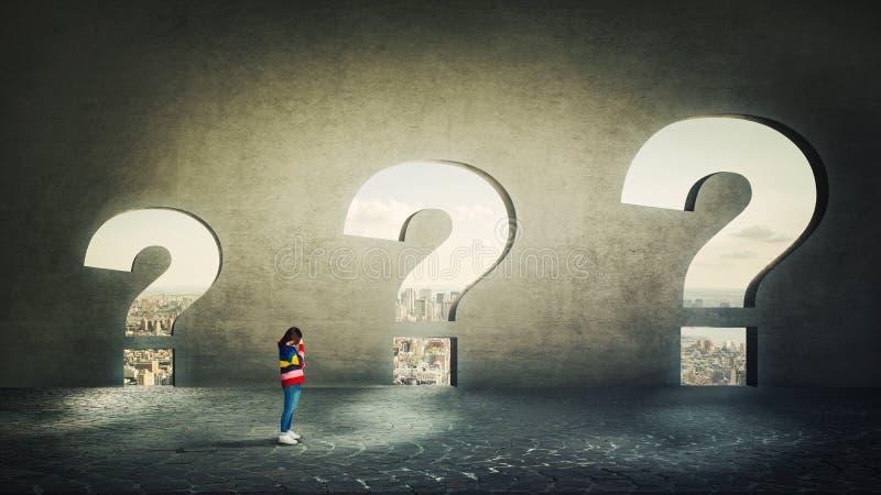 πολλές ερωτήσεις διανυσματική απεικόνιση