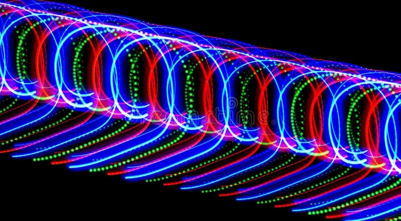 Πολλή που χρωματίζεται nines, γραπτός από το φως των σημείων και του γ στοκ εικόνα