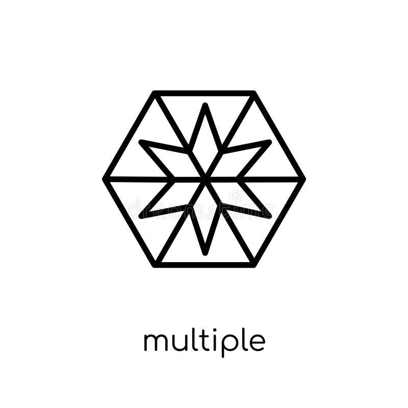 Πολλαπλάσια τρίγωνα μέσα στο hexagon εικονίδιο από τη συλλογή γεωμετρίας ελεύθερη απεικόνιση δικαιώματος