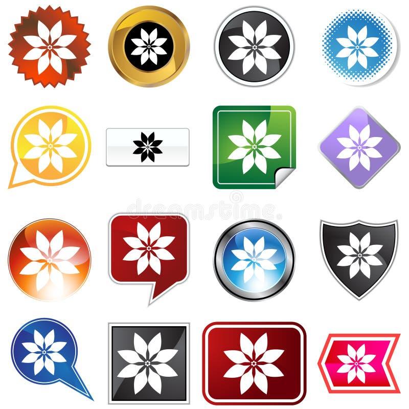 πολλαπλάσιο poinsettia κουμπιών ελεύθερη απεικόνιση δικαιώματος