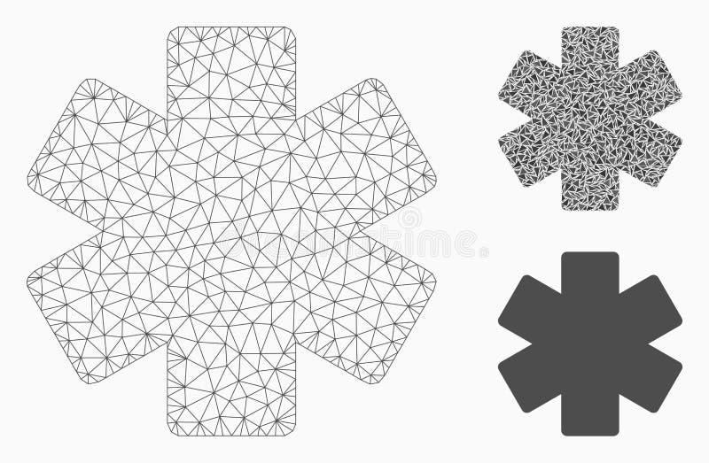 Πολλαπλασιάστε το διανυσματικά 2$α πρότυπο πλέγματος λειτουργίας Math και το εικονίδιο μωσαϊκών τριγώνων απεικόνιση αποθεμάτων