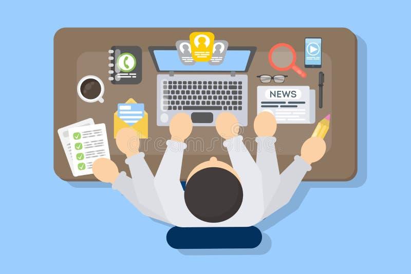 Πολλαπλό καθήκον επιχειρηματιών στην εργασία διανυσματική απεικόνιση