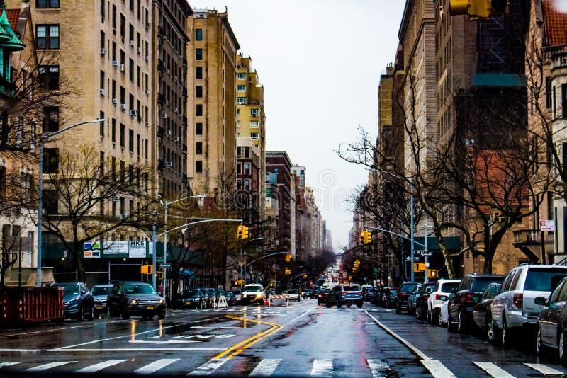Πολυάσχολες οδοί της Νέας Υόρκης του 2019 στοκ εικόνες