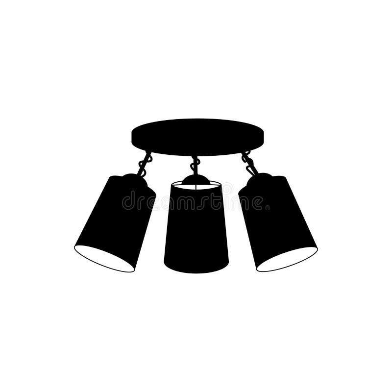 Πολυέλαιος λαμπτήρων για το ανώτατο όριο τρία απεικόνιση αποθεμάτων