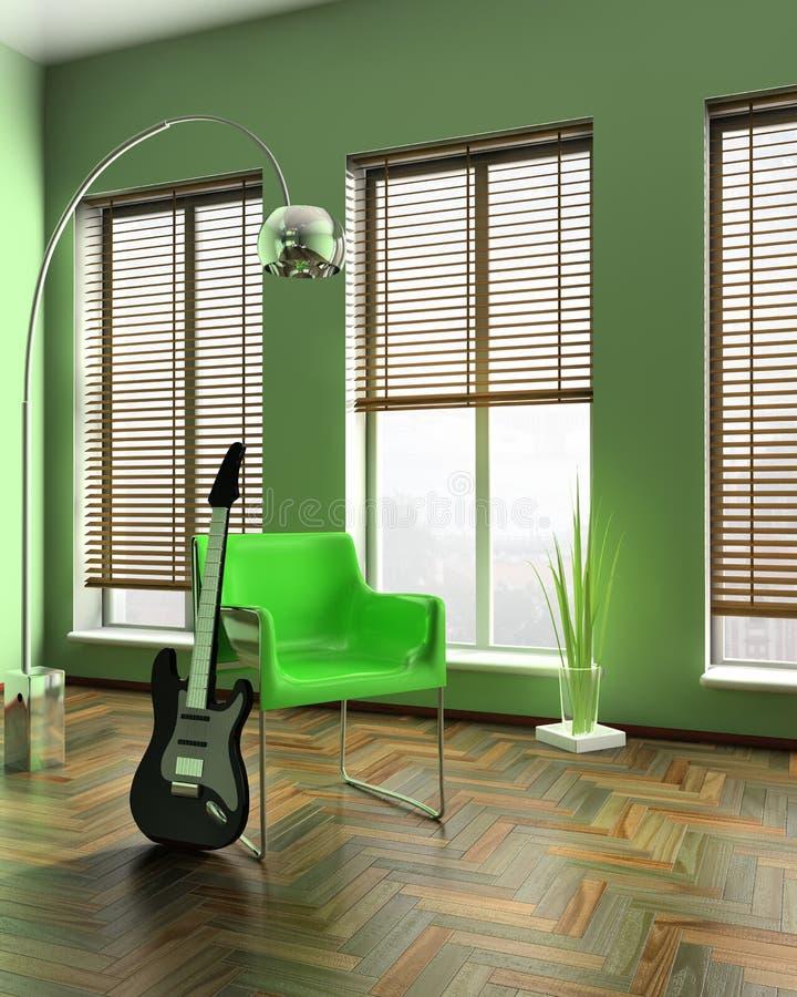 πολυθρόνα πράσινη ελεύθερη απεικόνιση δικαιώματος