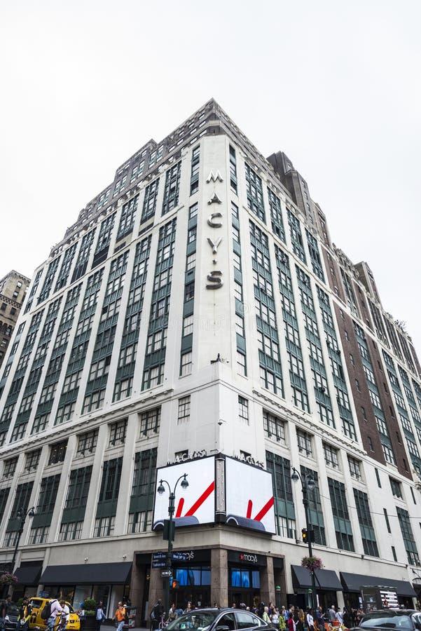Πολυκατάστημα Macy στην πόλη της Νέας Υόρκης, ΗΠΑ στοκ φωτογραφίες με δικαίωμα ελεύθερης χρήσης