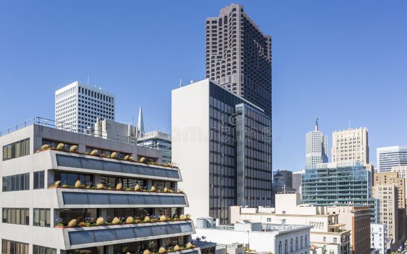 Πολυκατοικίες, Σαν Φρανσίσκο, Καλιφόρνια, Ηνωμένες Πολιτείες της Αμερικής, ΗΠΑ στοκ εικόνες