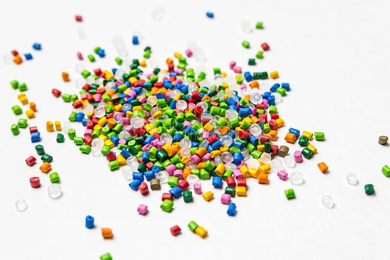 Πολυμερής χρωστική ουσία Χρωστική ουσία για τα πλαστικά Χρωστική ουσία στους κόκκους στοκ εικόνα
