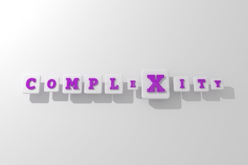 Πολυπλοκότητα, επιχειρησιακή λέξη κλειδί Για ιστοσελίδας, το γραφικό σχέδιο, τη σύσταση ή το υπόβαθρο απεικόνιση αποθεμάτων