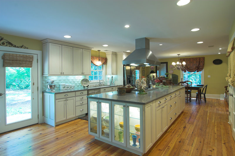 πολυτέλεια κουζινών στοκ φωτογραφία