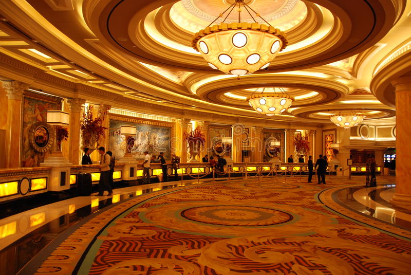 πολυτέλεια λόμπι ξενοδ&omicr στοκ εικόνα