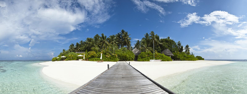 πολυτέλεια νησιών ξενοδοχείων τροπική στοκ φωτογραφία