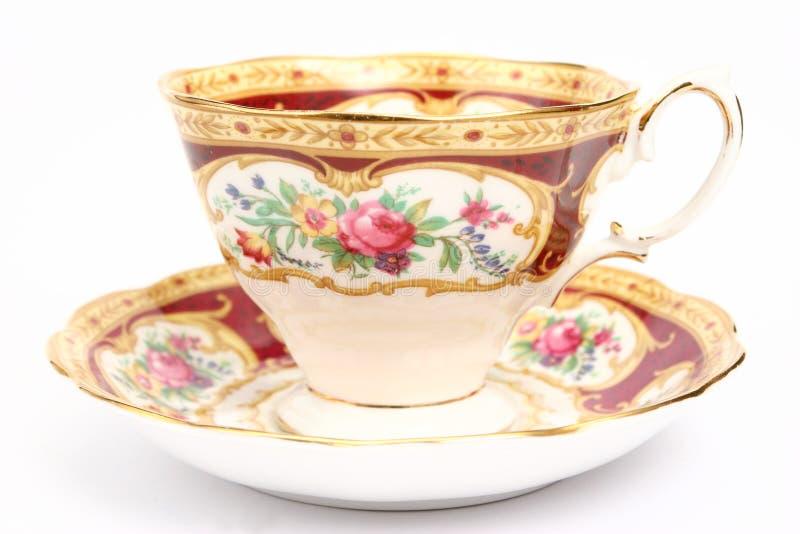 πολυτελές τσάι φλυτζανιών στοκ εικόνες