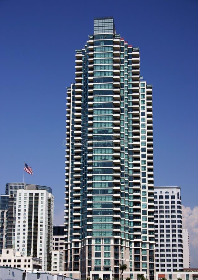 πολυόροφο κτίριο SAN του Diego στοκ εικόνα με δικαίωμα ελεύθερης χρήσης