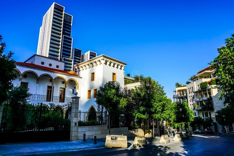 Πολυ διαμερίσματα βιλών επιπέδων της Βηρυττού στοκ εικόνα