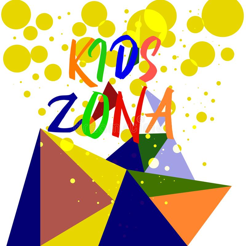 Πολυ λεκέδες χρώματος υποβάθρου ζώνης παιδιών Διανυσματική απεικόνιση EPS10 Τρελλή κάλυψη διανυσματική απεικόνιση