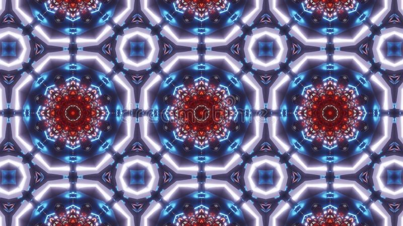 Πολυ σχέδιο καλειδοσκόπιων χρώματος διακόσμηση με με το πολύ συμπαθητικό κόκκινο διανυσματική απεικόνιση