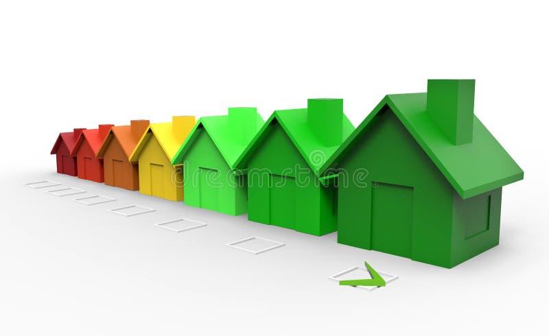 Πολυ χρωματισμένη έννοια οδηγιών ενεργειακής αποδοτικότητας σπιτιών ελεύθερη απεικόνιση δικαιώματος