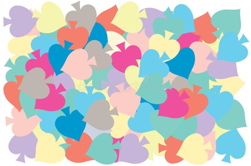 Πολυ χρώμα τεθειμένης της φτυάρια επικάλυψης στο σχέδιο απεικόνιση αποθεμάτων
