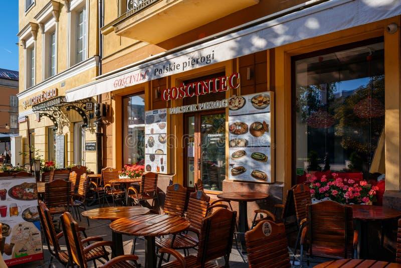 Πολωνικό εστιατόριο στη Βαρσοβία στοκ φωτογραφία