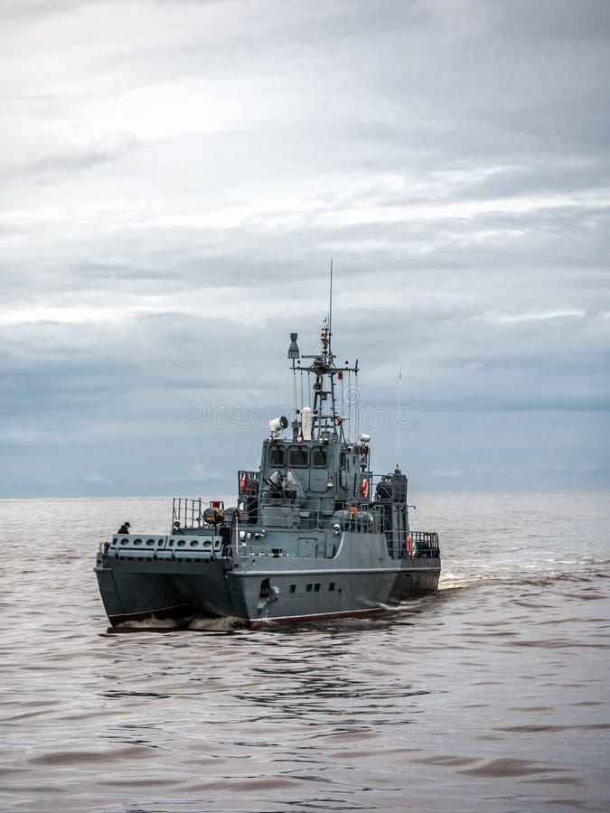 Πολωνικό σκάφος περιπόλου ναυτικού στοκ εικόνα με δικαίωμα ελεύθερης χρήσης