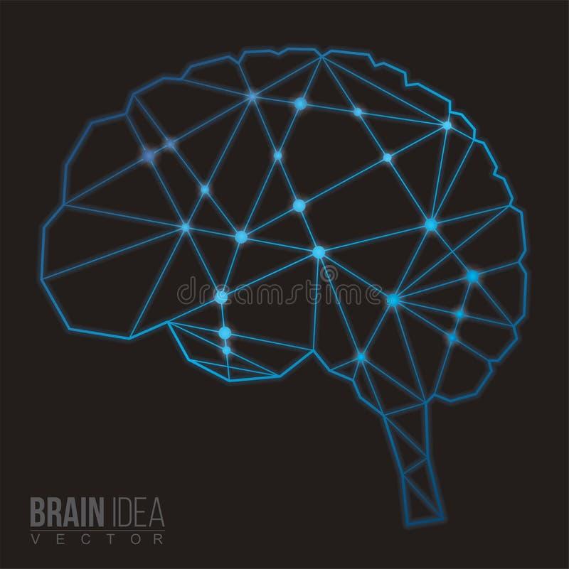 Πολύγωνο εγκεφάλου, διανυσματική απεικόνιση ελεύθερη απεικόνιση δικαιώματος