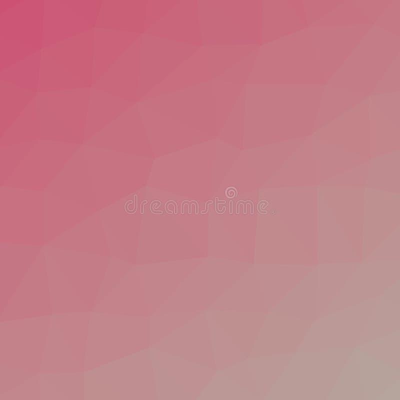 Πολύγωνο τριγώνων κοκκίνου και aqua στην τετραγωνική απεικόνιση υποβάθρου μορφής απεικόνιση αποθεμάτων