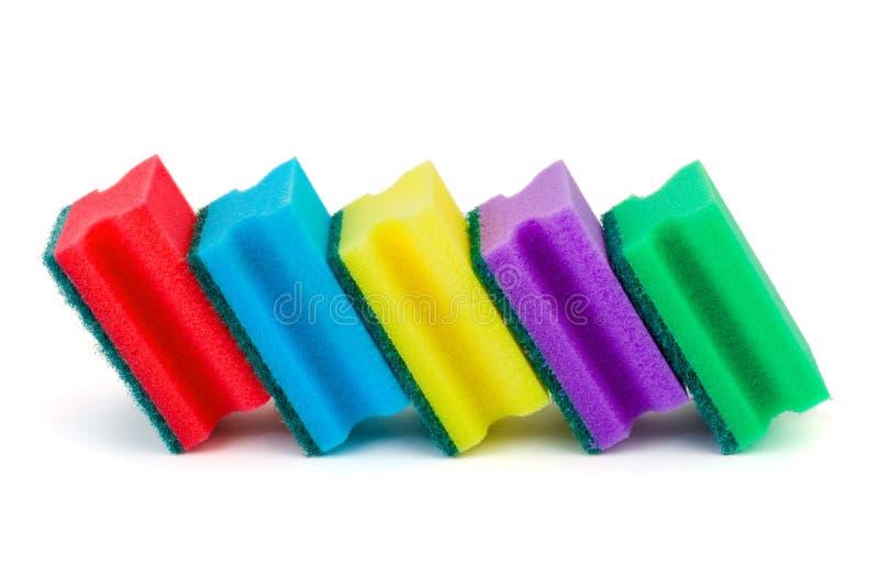 πολύχρωμα σφουγγάρια στοκ εικόνα με δικαίωμα ελεύθερης χρήσης