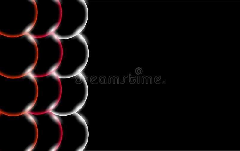 Πολύχρωμες διαφανείς αφηρημένες λαμπρές όμορφες και κυρτές στερεές απλές σφαίρες, φυσαλίδες, κύκλοι αυγών με το έντονο φως του φω ελεύθερη απεικόνιση δικαιώματος