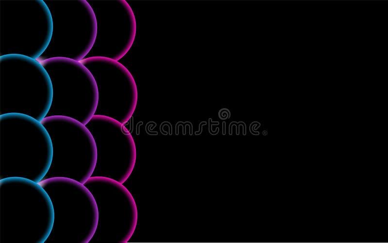Πολύχρωμες διαφανείς αφηρημένες λαμπρές όμορφες και κυρτές στερεές απλές σφαίρες, φυσαλίδες, κύκλοι αυγών με το έντονο φως του φω απεικόνιση αποθεμάτων