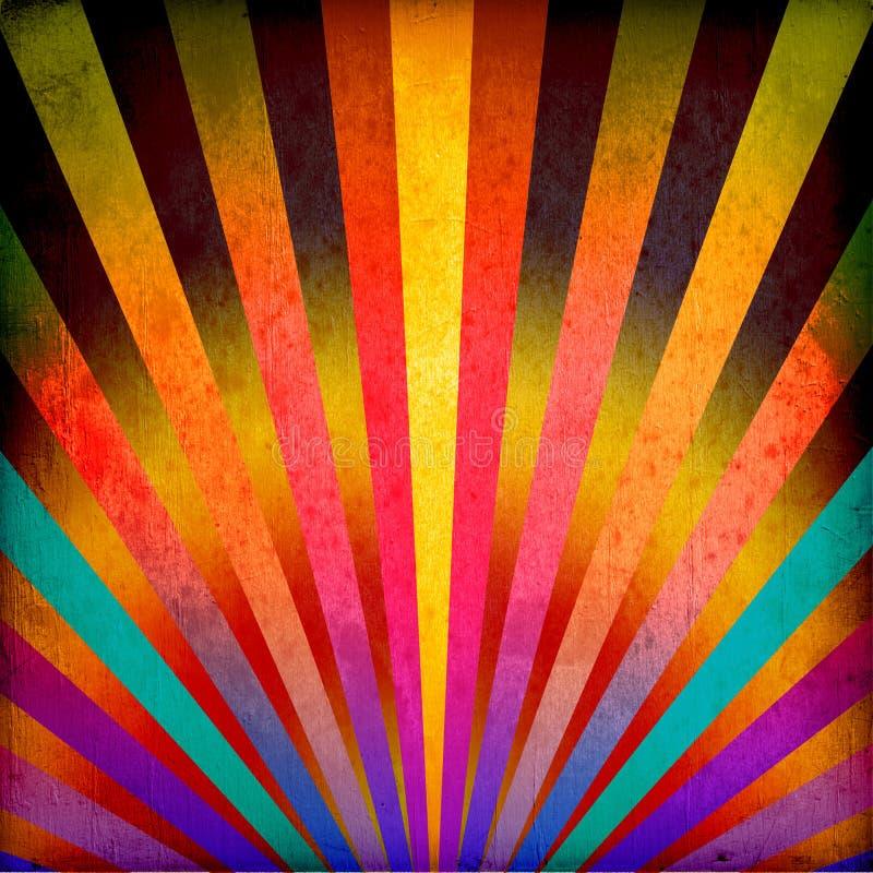 πολύχρωμες ηλιαχτίδες α ελεύθερη απεικόνιση δικαιώματος