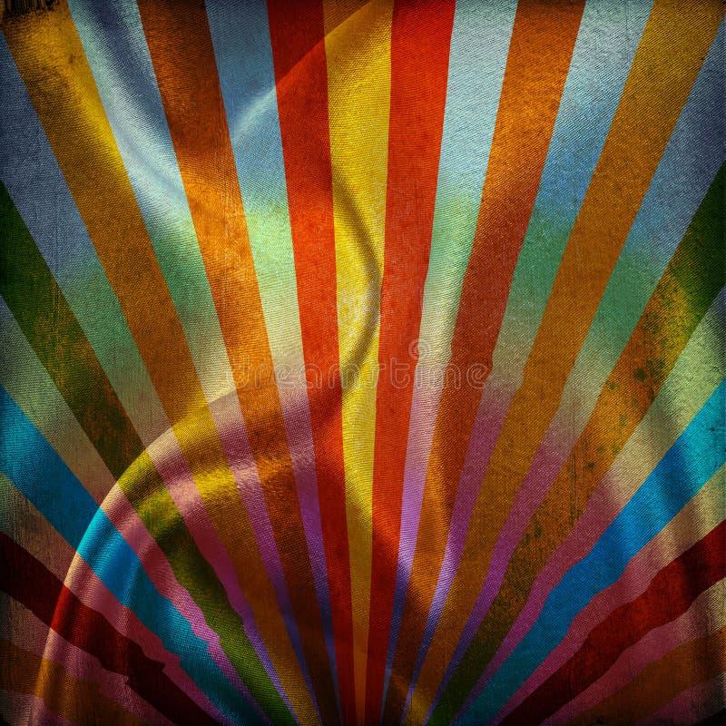 πολύχρωμες ηλιαχτίδες α διανυσματική απεικόνιση