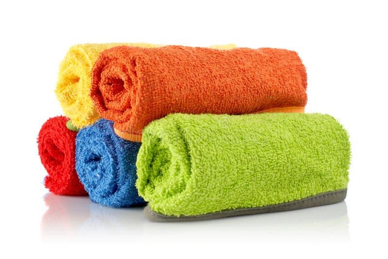 πολύχρωμες πετσέτες ρόλων στοκ φωτογραφία με δικαίωμα ελεύθερης χρήσης
