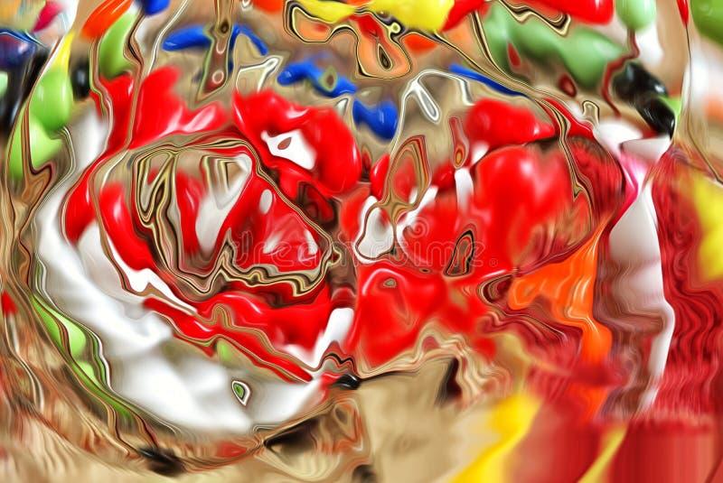 Πολύχρωμη αφηρημένη φωτογραφία, που εμφανίζεται όπως το λειώνοντας γυαλί στοκ εικόνα