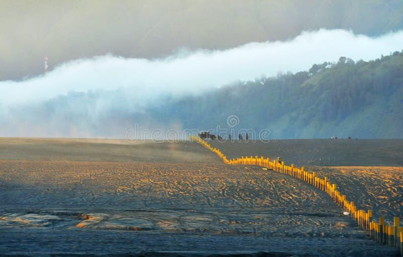 Πολύχρωμη ηλιοβασίλεμα και Μπρόμο Ινδονησία στοκ εικόνα