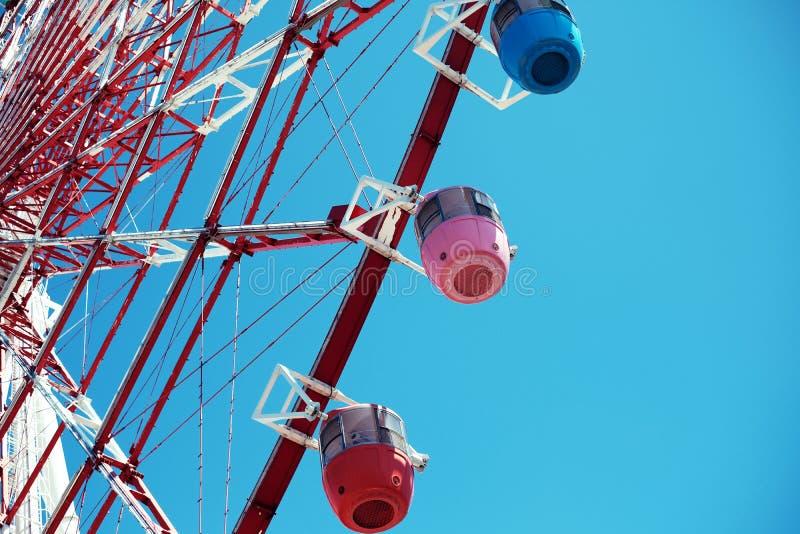 Πολύχρωμη παλέτα τροχού Ferris Town, Odaiba, Ιαπωνία στοκ φωτογραφίες με δικαίωμα ελεύθερης χρήσης