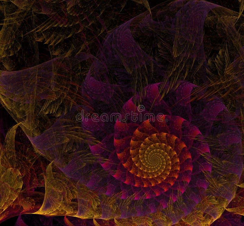 Πολύχρωμη σπειροειδής fractal εικόνα ελεύθερη απεικόνιση δικαιώματος