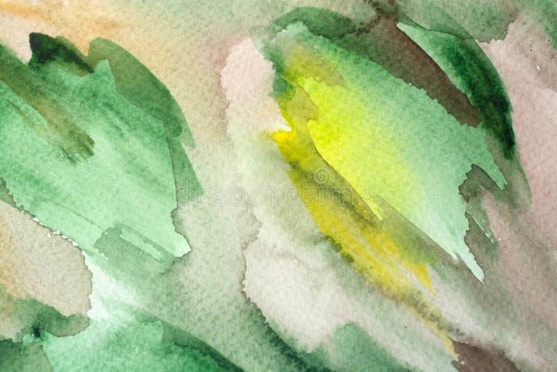 Πολύχρωμη χρωματισμένη watercolor σύσταση υποβάθρου στοκ φωτογραφία