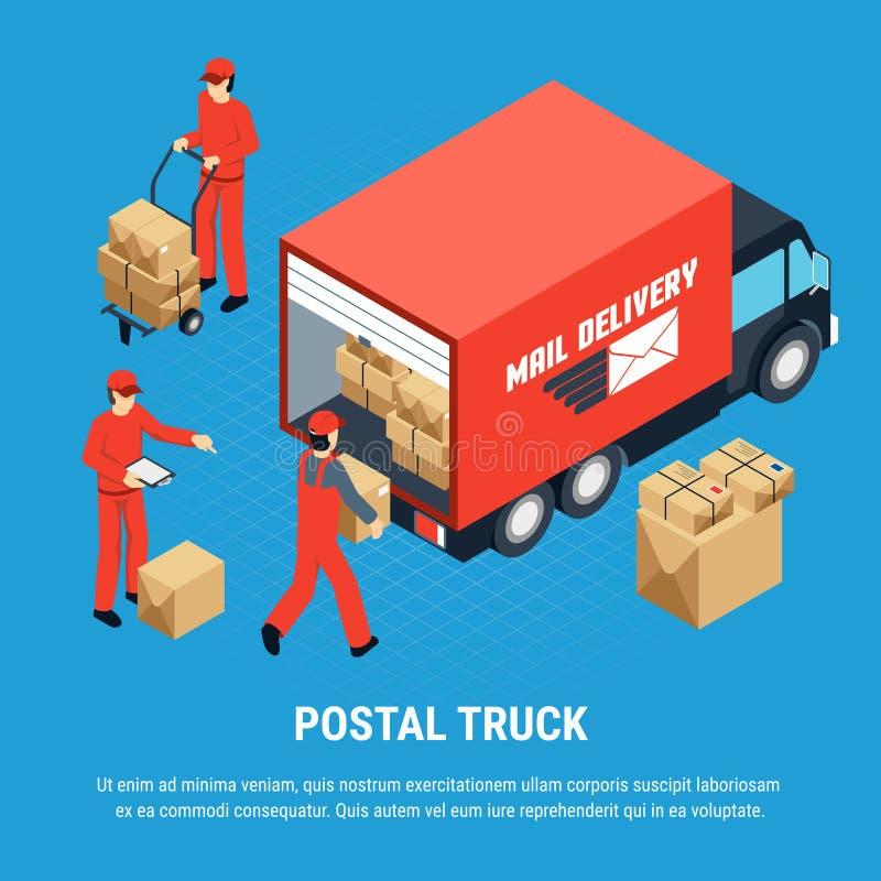 Πολύχρωμη Isometric σύνθεση ταχυδρομείου ελεύθερη απεικόνιση δικαιώματος