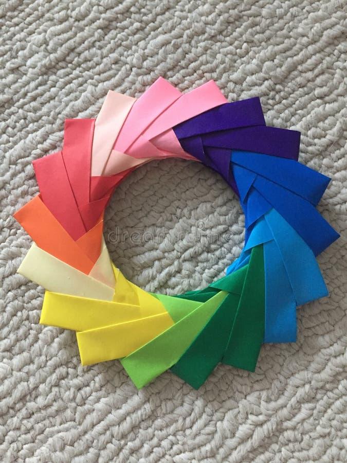 Πολύχρωμος κύκλος origami στοκ εικόνες με δικαίωμα ελεύθερης χρήσης