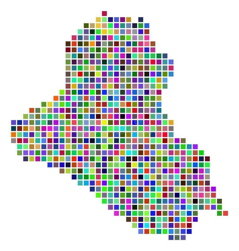 Πολύχρωμος χάρτης του Ιράκ σημείων ελεύθερη απεικόνιση δικαιώματος
