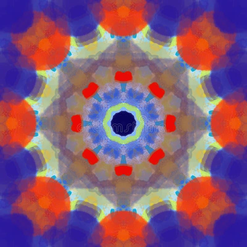 Πολύχρωμος mandala κύκλος σχεδίων ύφους γεωμετρικός γύρω από την τέχνη προτύπων στοιχείων σχεδίου γραφική για τον Ιστό και το καλ απεικόνιση αποθεμάτων